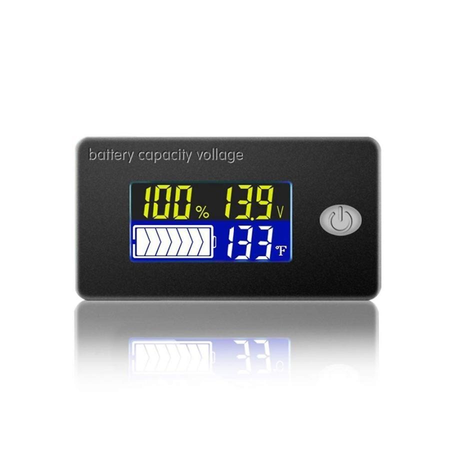 正規取扱店 LCDデジタル電圧計 温度計搭載 車 電池残量表示 バッテリーチェッカー バイク 希望者のみラッピング無料