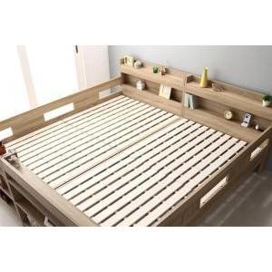 ベッド ワイドK200 フルガード ベッドフレームのみ ベッドフレームのみ 2段ベッドにもなるワイドキングサイズベッド Whentass