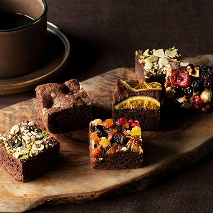 ナッツとドライフルーツの贅沢ブラウニー 12個入 送料無料 ホシフルーツ 激安特価品 買物 チョコ 人気