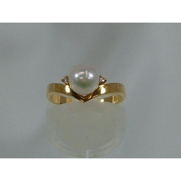 今季ブランド 真珠【OTOWA PEARL】 リング 6.7mm あこや真珠 ダイヤ入 K18, MJ-MARKET 99668f26