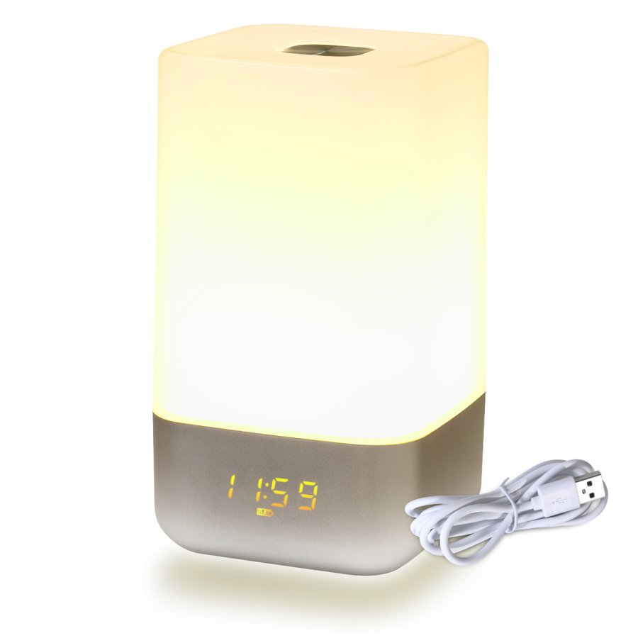 目覚まし時計 起きれる デジタル 大音量 光で起きる 赤ちゃん ナイトライト 持ち運び 子供部屋 おむつ替え LED ルームライト 3階段明るさモード タッチセンサ|otpstore|09