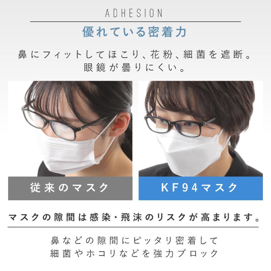 KF94 マスク クローバー CLOVER 個別包装 MFDS認証 正規品 韓国製 韓流マスク 日本語パッケージ CLJ-KF94W 白 黒 10枚入り レビュー特典あり|otpstore|05