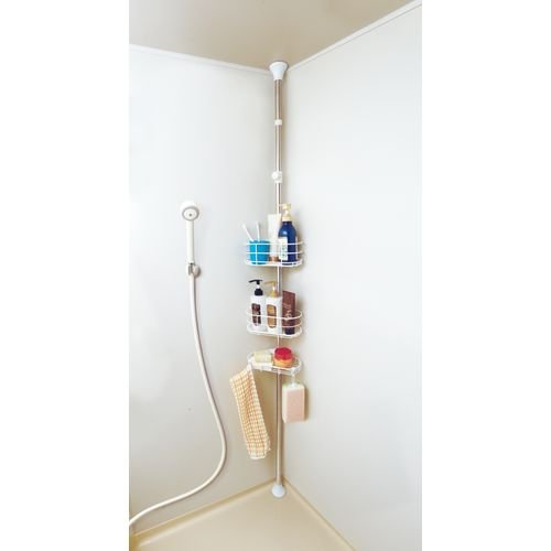アイリスオーヤマ 浴室突張りラック/BLT-25 高さ1900?2500mm|ouchi-style
