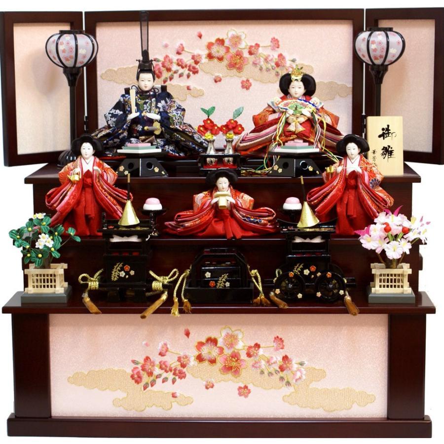 雛人形 華芳作 御雛 三段収納飾り 19-27