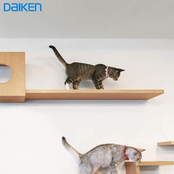 【受注生産品】 大建工業 ねこルート(両側R)+専用金具(ブラケット) 猫が安心して遊べる 運動不足解消 壁面造作部材 猫用品 ペット用品