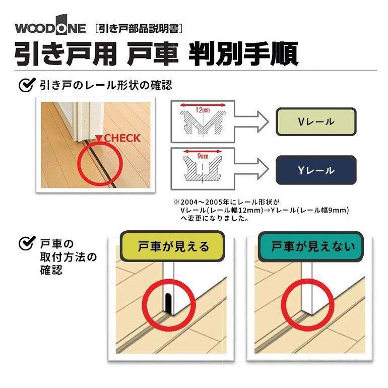 在庫あり ウッドワン Y戸車A9Y型(2個/1セット) 品番:ZY1651 ouchioukoku 06