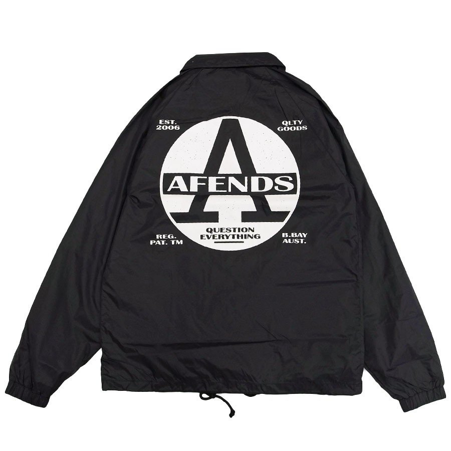 AFENDS アフェンズ サーフ REGISTER COACH JACKET BLACK コーチジャケット アウター 上着 ブラック 黒 our-s 02