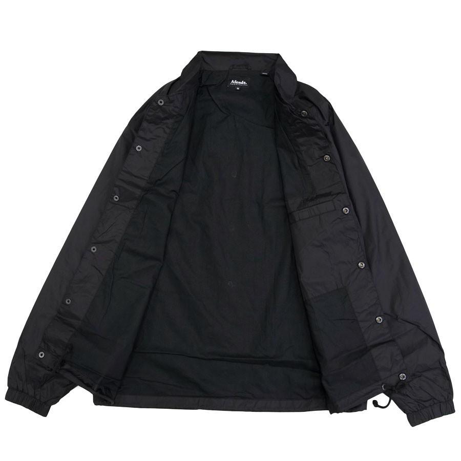 AFENDS アフェンズ サーフ REGISTER COACH JACKET BLACK コーチジャケット アウター 上着 ブラック 黒 our-s 03
