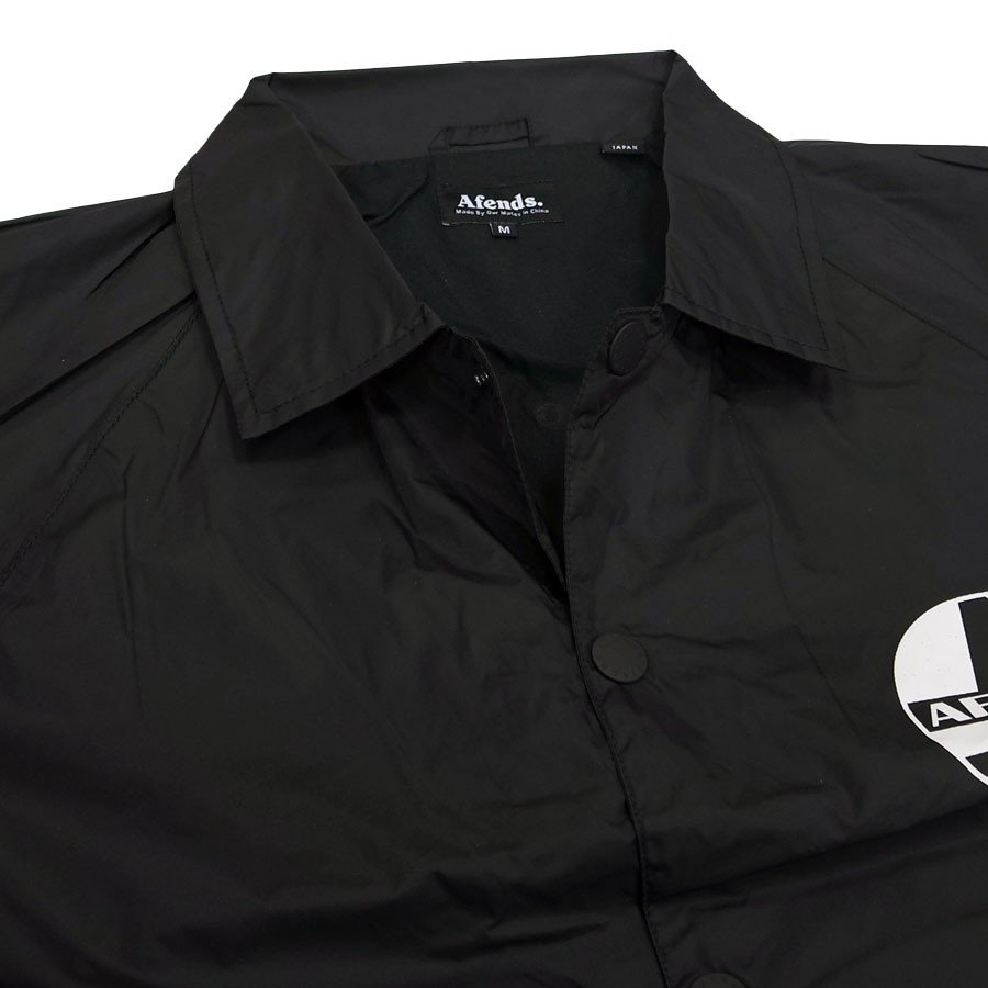 AFENDS アフェンズ サーフ REGISTER COACH JACKET BLACK コーチジャケット アウター 上着 ブラック 黒 our-s 04