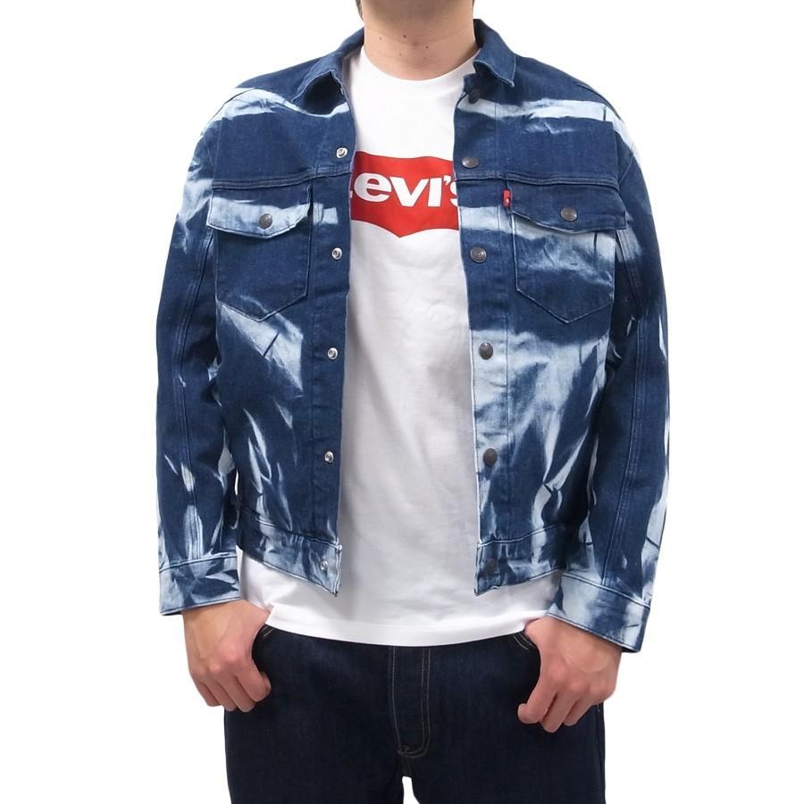 LEVI'S リーバイス トラッカージャケット デニムジャケット ジージャン Gジャン LEJ WAVE CLUB 総柄|our-s