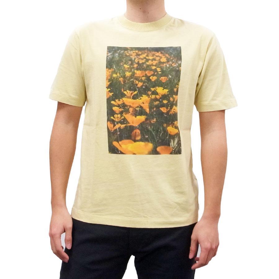 BANKS バンクス メンズ レディース ユニセックス 半袖Tシャツ カットソー オーガニックコットン ZAK BUSH FOLWERS イエロー 黄色|our-s