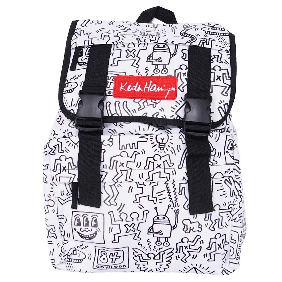 KEITH HARING キースヘリング バックパック リュックサック デイパック MULTI PATTERN BACKPACK WHITE ホワイト 白|our-s