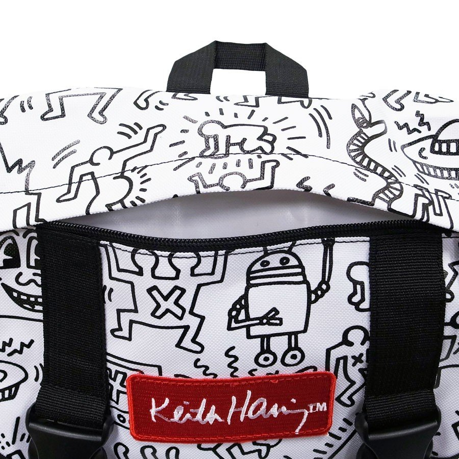 KEITH HARING キースヘリング バックパック リュックサック デイパック MULTI PATTERN BACKPACK WHITE ホワイト 白|our-s|03