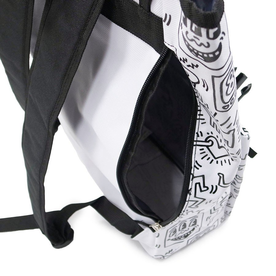 KEITH HARING キースヘリング バックパック リュックサック デイパック MULTI PATTERN BACKPACK WHITE ホワイト 白|our-s|06