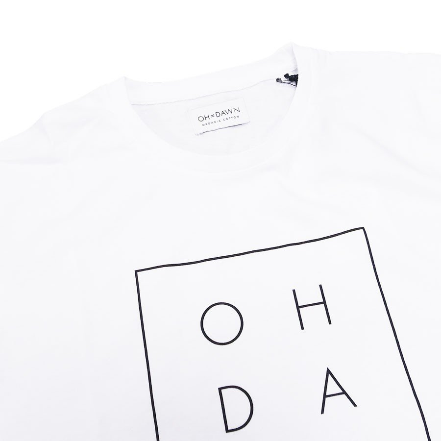 OH×DAWN オードーン Tシャツ カットソー G LETTER TEE ホワイト 白|our-s|03