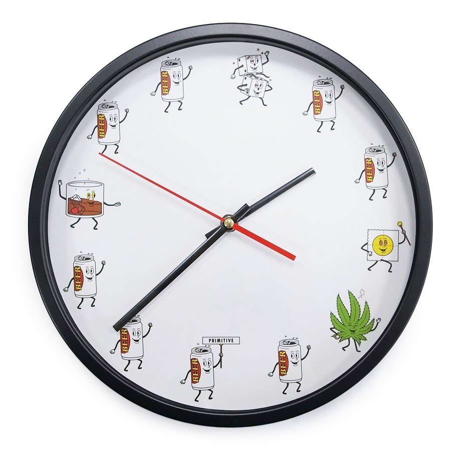 PRIMITIVE プリミティブ PARTY TRAIN WALL CLOCK 時計 掛け時計 壁掛け our-s