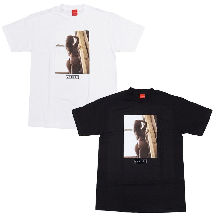 V/SUAL ヴィジュアル ビジュアル BEYOND TEE 2色 半袖Tシャツ カットソー 黒 ブラック 白 ホワイト|our-s