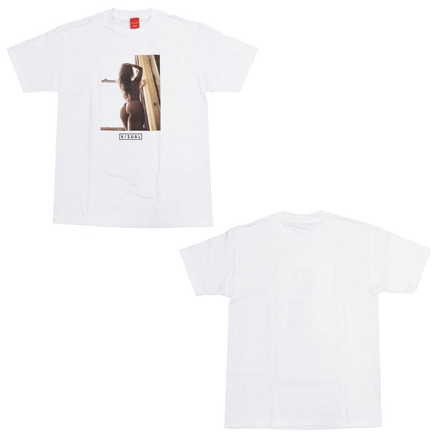 V/SUAL ヴィジュアル ビジュアル BEYOND TEE 2色 半袖Tシャツ カットソー 黒 ブラック 白 ホワイト|our-s|02