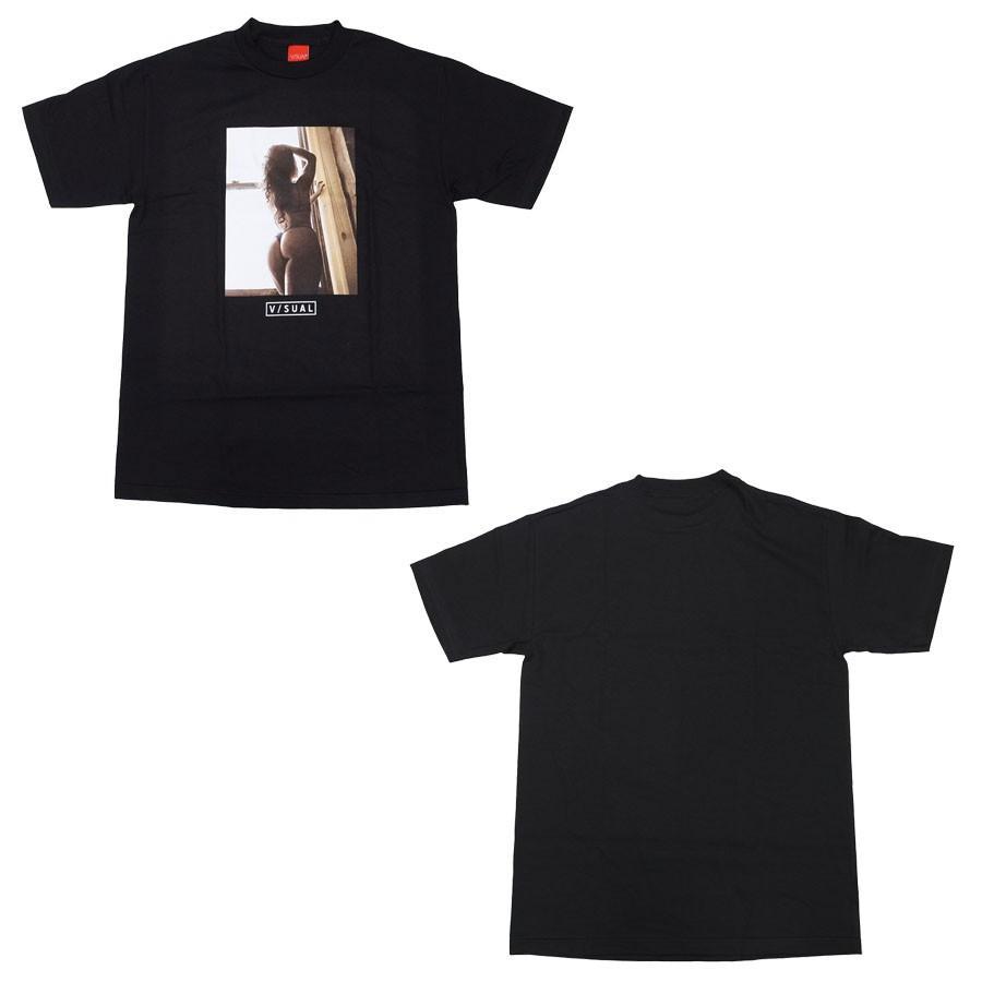 V/SUAL ヴィジュアル ビジュアル BEYOND TEE 2色 半袖Tシャツ カットソー 黒 ブラック 白 ホワイト|our-s|03