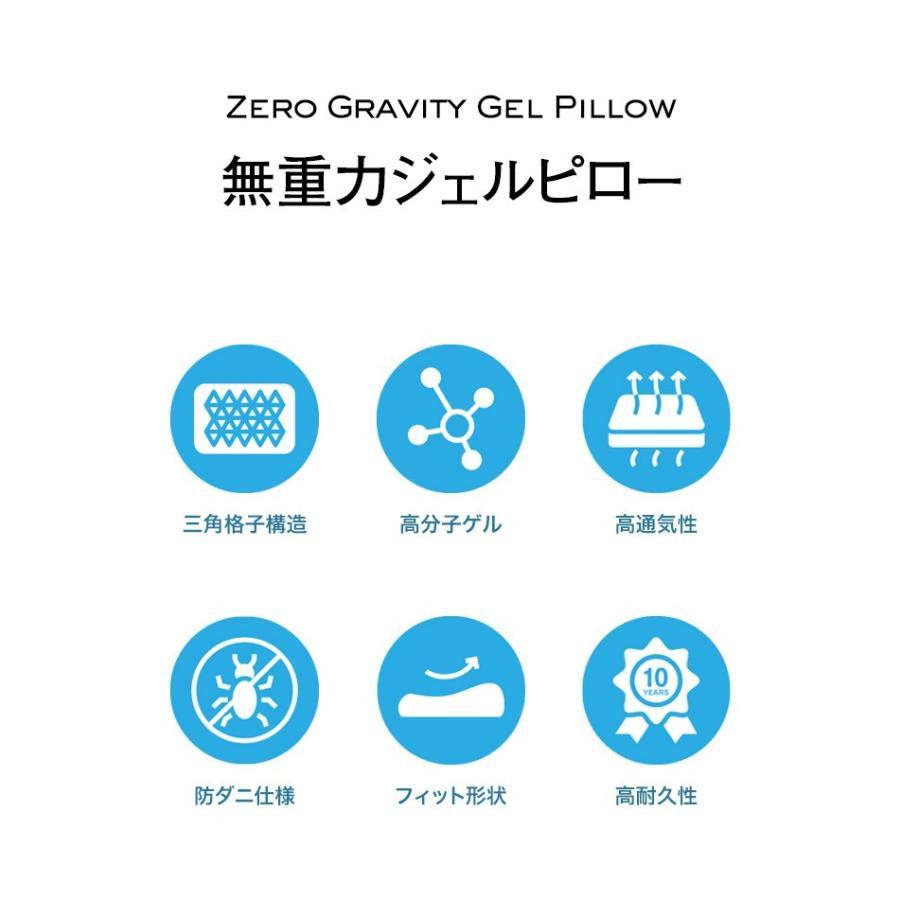 枕 まくら 卵割れない ジェルピロー 無重力ジェル枕 吸着 フィット枕 洗える ブルージェル ゲル枕 スリープル|outlet-f|04