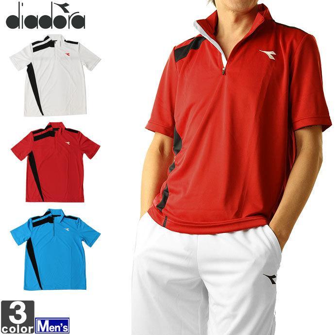 テニスウェア ディアドラ DIADORA 100%品質保証 メンズ DOS7336A ゆうパケット対応 ゲームシャツ 半袖Tシャツ 期間限定送料無料 2011