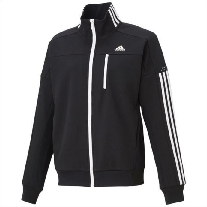 adidas (アディダス) W adidas 24/7 ウォームアップジャケット (DN1381) ブラック FKK19 1810 レディース