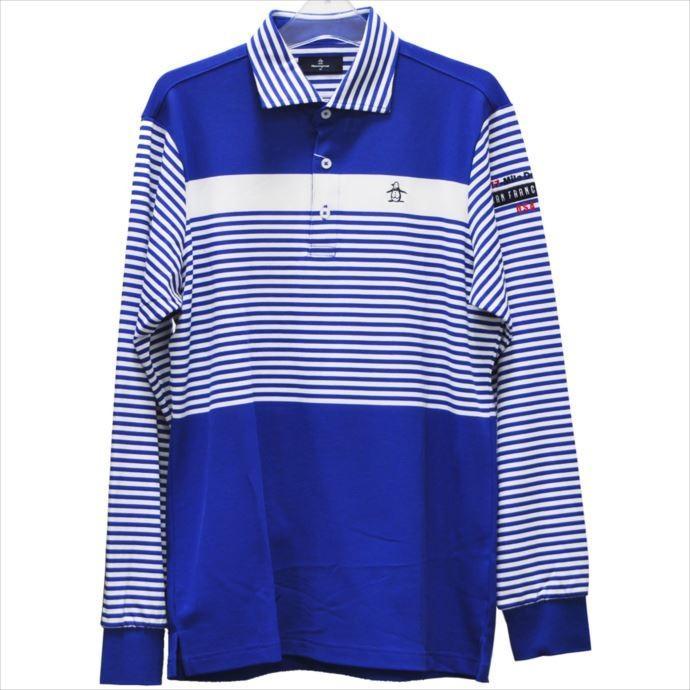《送料無料》長袖ポロシャツ Munsingwear (マンシングウェア) メンズ 長袖シャツ ブルー MGMMJB10 1908 ゴルフ