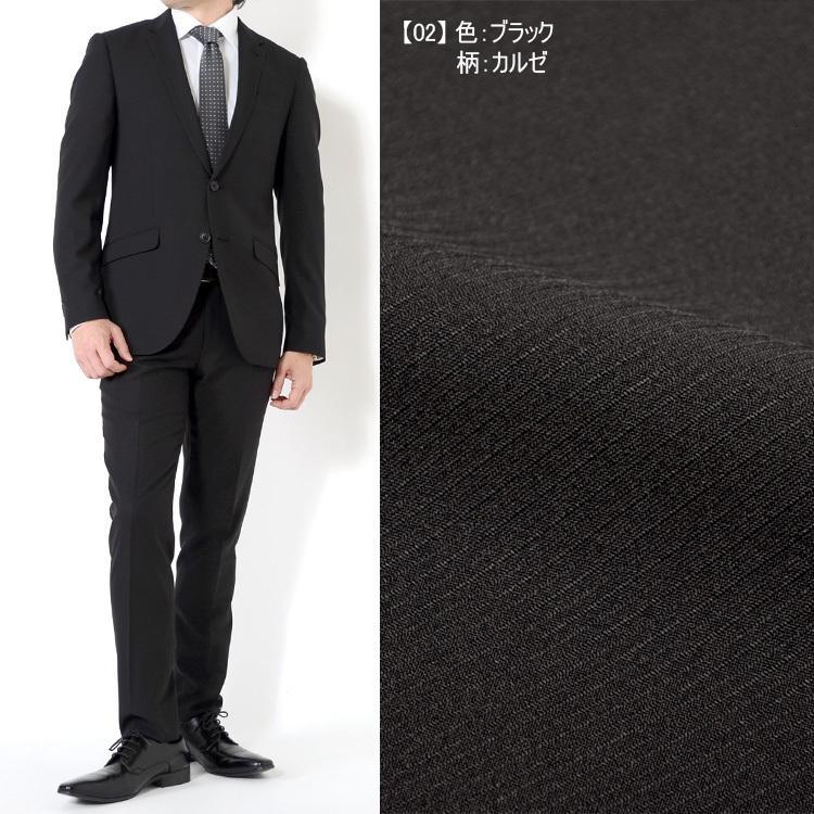 スーツ メンズスーツ 春夏スーツ スリムスタイル ストレッチ素材 ご家庭で洗濯可能なスラックス 5COLOR Y体 A体 AB体 2ツボタンスーツ ビジネススーツ|outlet-suit|04