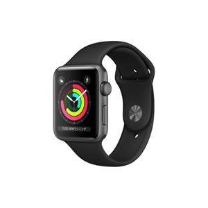 新色追加して再販 新品 在庫あり Apple Watch Series 3 ブラックスポーツバンド 開催中 MTF32J 42mm A GPSモデル