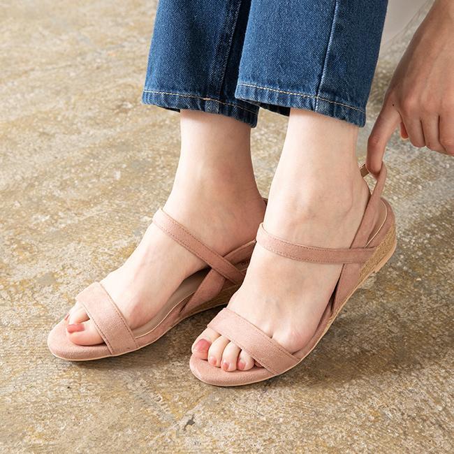サンダル 格安SALEスタート レディース ストラップ 履きやすい 送料無料 歩きやすい ウェッジソール ウェッジサンダル お中元