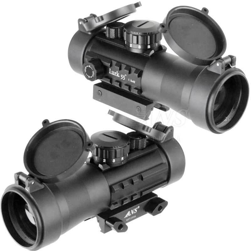 ANS Optical 2倍固定 ショートスコープ 2x42 Lurk55 キルフラッシュ付 青赤緑 イルミネーション 20mmレール 20mmレイル|outsiders|02