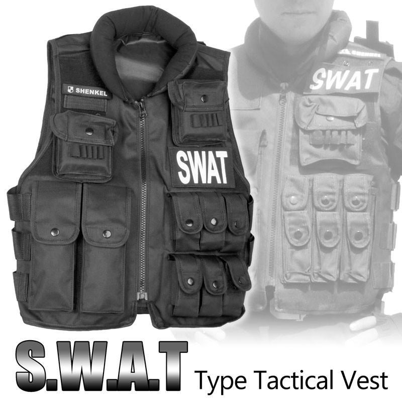 SHENKEL SWAT 13ポケット 戦術ベスト タクティカルベスト アーマー メーカー公式 特殊部隊 コスプレ 安い 激安 プチプラ 高品質 アメリカ軍 v10 警察