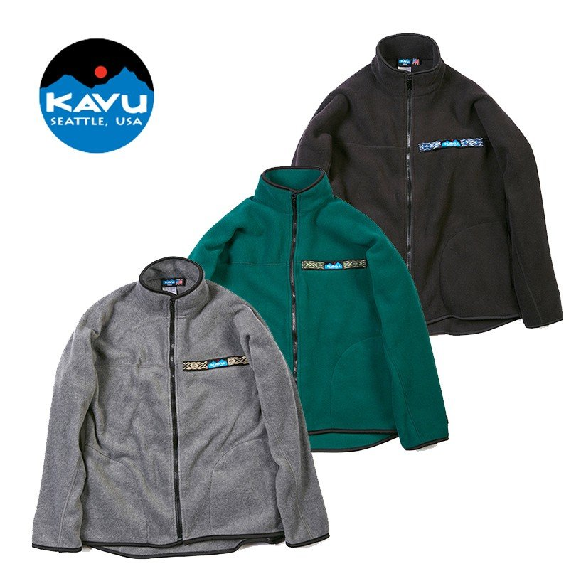 KAVU(カブー) Ms フリース フルジップ スローシャツ FZ Fleece Throwshirt 19810137 メンズ フリースジャケット