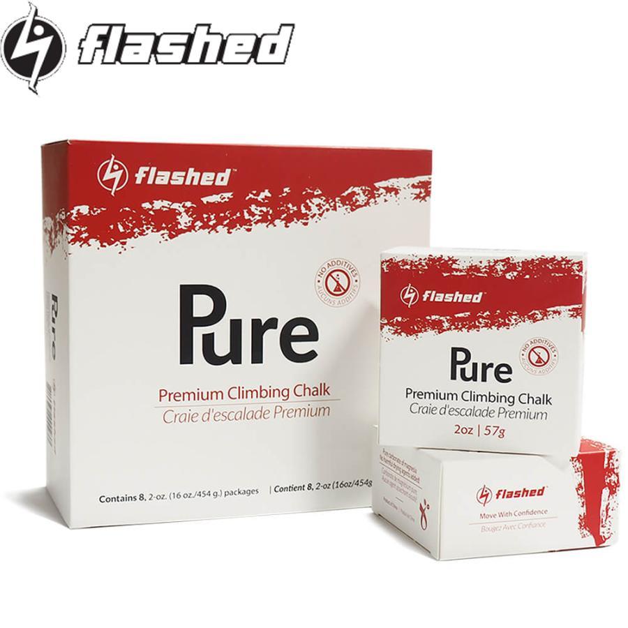 flashed フラッシュト プレミアムブロックチョーク 8ブロックス(8個入り) Premium Climbing Chalk クライミング用固形チョーク ボルダリング 手汗 滑り止め|outspot