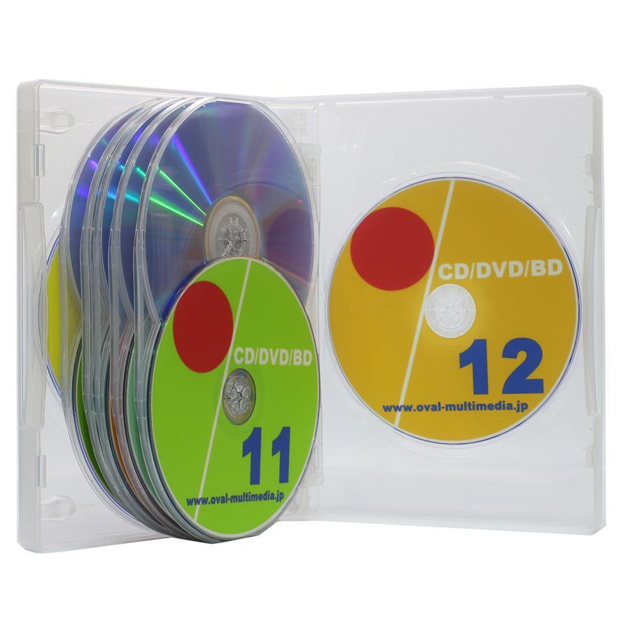 2020秋冬新作 《週末限定タイムセール》 27mm厚に最大12枚収納 12枚収納DVDトールケース クリア1個