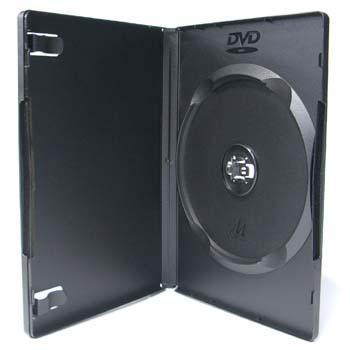 発売モデル DVDケース トールケース シングルタイプ ソフトケース 1枚収納15mm厚Mロック 1個 ブラック 内祝い