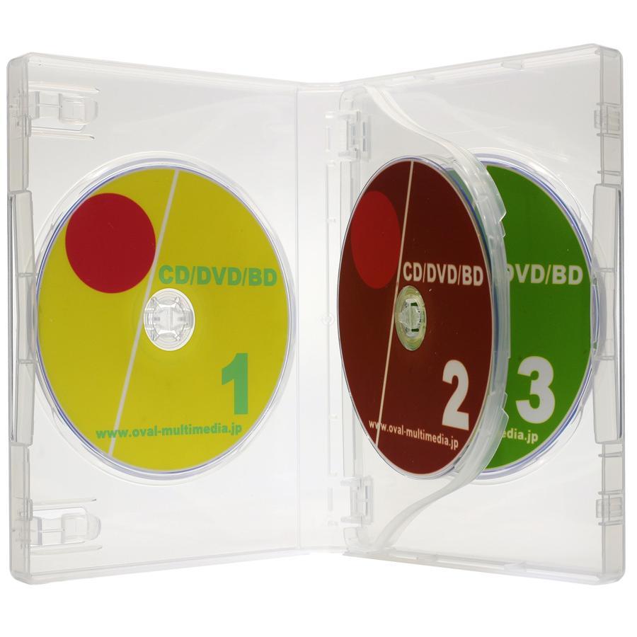 送料0円 DVDケース トールケース 購買 3枚収納 27mm厚Mロック 1個 クリア