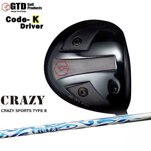 GTD_CODE-Kドライバー/George_Takei_Design/CRAZY_SPORTS_TYPE_B/CRAZY/クレイジー/OVDカスタムクラブ/代引NG
