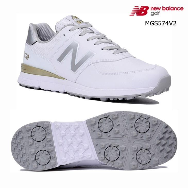 2019SS/New_Balance/ニューバランス/MGS574V2/NB_19SS_スパイクレス/ゴルフシューズ/ホワイトゴールド/ユニセックス/日本正規品
