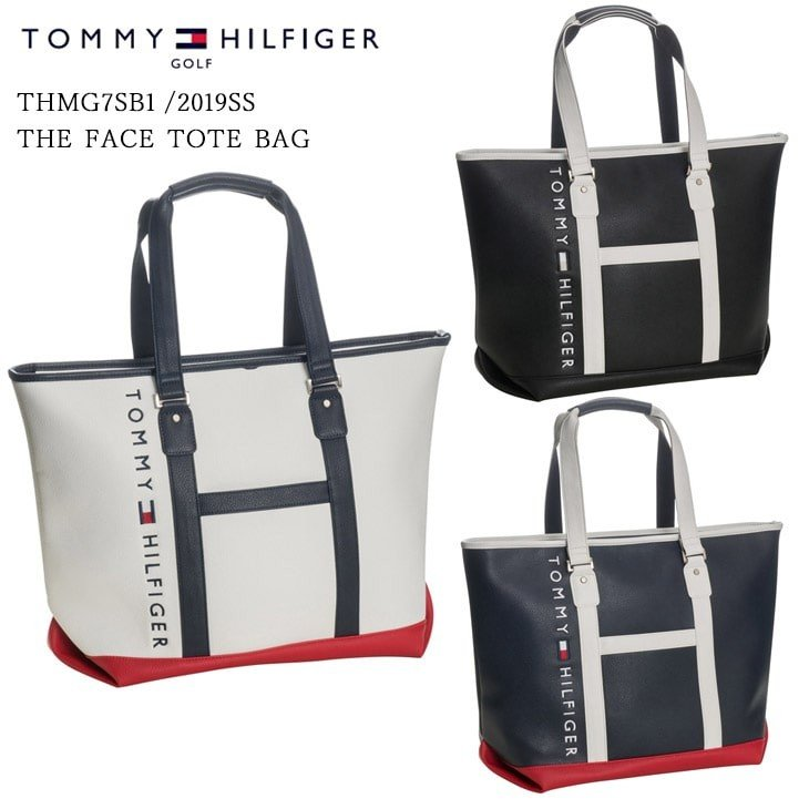 2019SS/TOMMY_HILFIGER/トミーヒルフィガー/THMG7SB1/THE_FACE_TOTE_BAG/トートバッグ