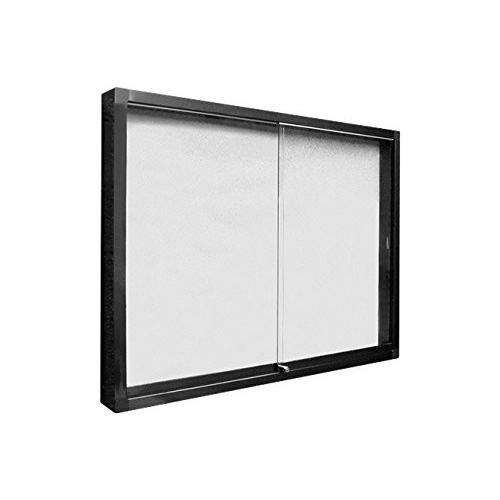 新協和 アルミ屋外掲示板 壁付型 シリンダー錠式 シルバー LED ピンマググレー SK-2070-1-SLC