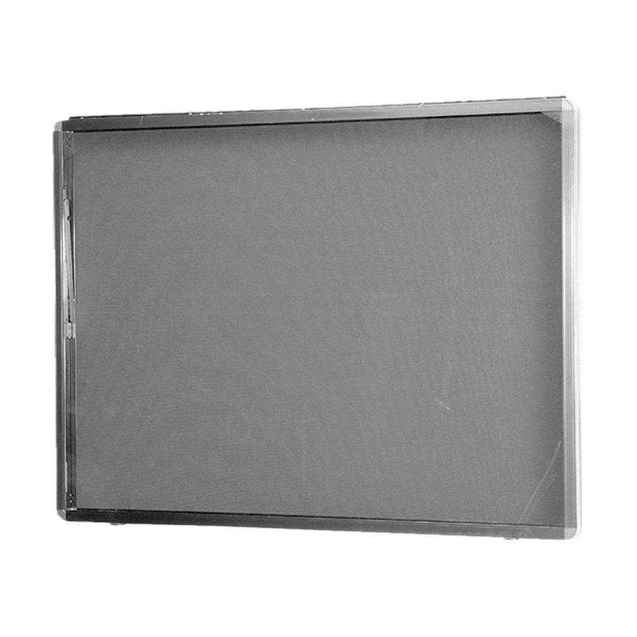 新協和 アルミ屋外掲示板 ターンキャッチ錠式 壁付オープン SK-8040N-1-SLC シルバー