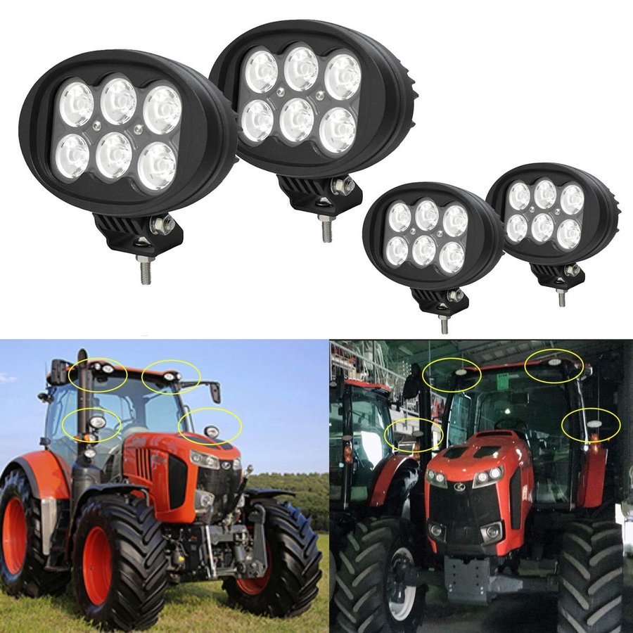 トラクター 車外灯 狭角 LEDサーチライト 60W 6インチ155mm フォグランプ 6500K 白光6000LM 投光器 IP68防水 12V/