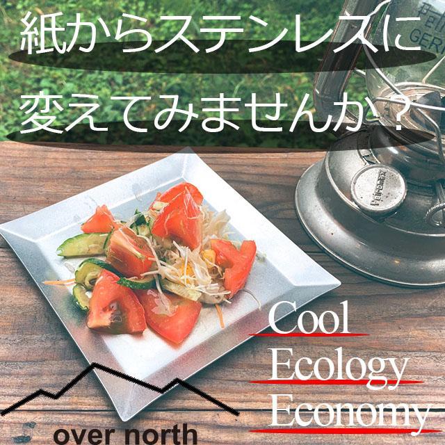 ステンレスプレート 小皿 取り皿 KUGAMI ※ヘアライン加工 バーベキュー・キャンプ、アウトドアに最適 overnorth-store 03