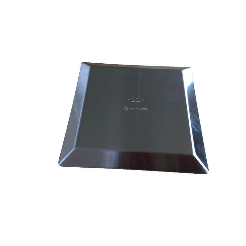 ステンレスプレート 小皿 取り皿 KUGAMI ※ヘアライン加工 バーベキュー・キャンプ、アウトドアに最適 overnorth-store 04