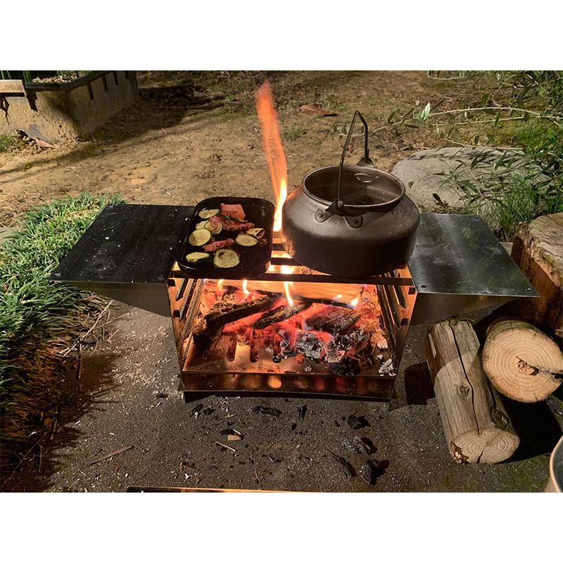 TAKIBI STOVE S(フルセットVer.)※「WARMING TABLE」あり ソロキャンプ バーベキュー|overnorth-store|14