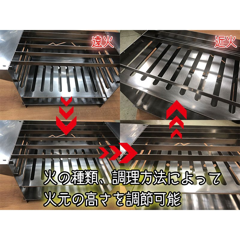 TAKIBI STOVE S(フルセットVer.)※「WARMING TABLE」あり ソロキャンプ バーベキュー|overnorth-store|07