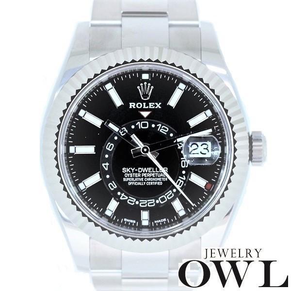 ★大人気商品★ ロレックス ロレックス ROLEX ROLEX スカイドゥエラー 326934 ブラック【未使用品 326934】 メンズ腕時計, 公式:9e229435 --- airmodconsu.dominiotemporario.com