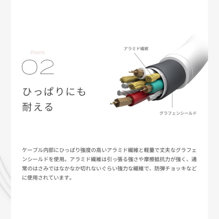 充電ケーブル 3in1ケーブル 1m microUSBケーブル iPhone スマホ lightning Type-C 変換 MOTTERU|owltech|03