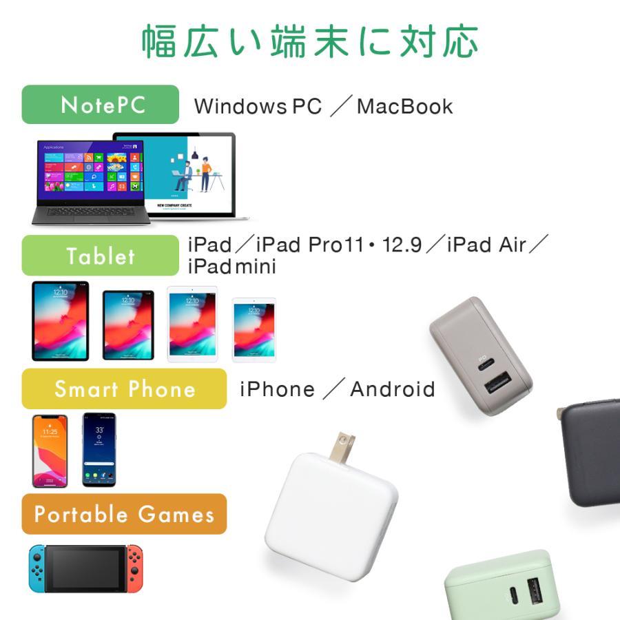 USB充電器 ACアダプタ PowerDelivery対応 Type-C×1ポート Type-A×1ポート MOTTERU 宅C owltech 05